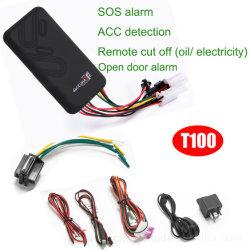 مكافحة السرقة بيع نظام GSM Car GPS Tracker للدراجات النارية السيارة المزودة بنظام التحكم في ثبات السرعة التكيفي (ACC)، يتم قطع محرك الاكتشاف عن بُعد T100