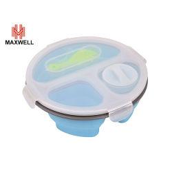 Bol à salade empilables en plastique contenant des aliments avec fourche pour cadeau promotionnel