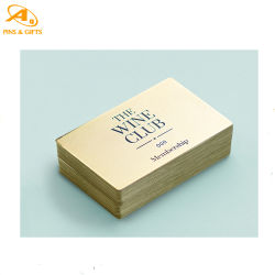 بطاقة عالية الجودة من الألومنيوم المعدني المدفوع مسبقًا مع شعار معدني مخصص تسمية بطاقة العمل
