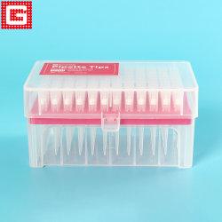 Pontas de pipeta universal Lab Micro Plastic Filter para vários tubos