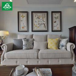 شقة أوروبية أثاث غرفة المعيشة مجموعة من الأقمشة أريكة طاولة خشبية