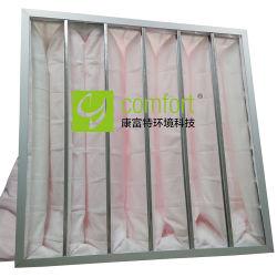 Middelgrote Efficiency 6 de Filter van de Zak van Zakken voor het Systeem van de Voorwaarde van de Lucht