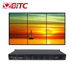 비디오 월 컨트롤러 3x3 2x3 3X2 4x2 2x2 HDMI 스플리터 1X9 USB DVI 오디오 포트 LCD TV 연결 프로세서 원격 제어