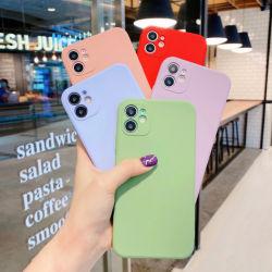 10 couleurs iPhone 11 séries de cas de téléphone mobile de silicone liquide