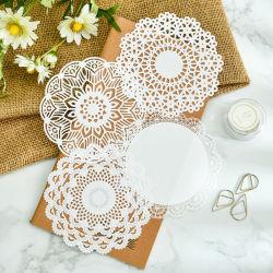 Popular fabricante de alta calidad en Papel de encaje de algodón resistente a la Grasa Doilie Doily de papel desechables alfombrillas tabla