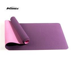 Fitnessgeräte, 6 mm TPE-Yogamat Exporter mit zwei Farben