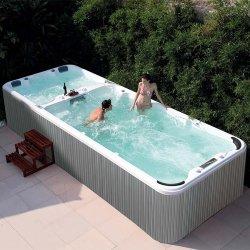 5.89m Length Good Price 정원 Frame Endless Acrylic Above Ground Swimming Water Pool Whirlpool Bath Tub Jacuzzi Outdoor Swim SPA