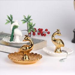 حل حامل مجوهرات برج [سرميك ديش] لوحة جوهرة عرض منام حلية صينية