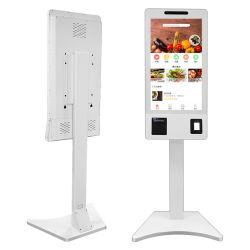Pedidos de comida rápida Self Service Msr/IC/tarjeta NFC POS máquina Cashless Dispositivo de pago con la impresora térmica
