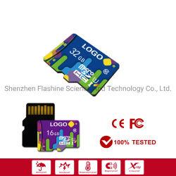 색깔 Printrd 메모리 카드 128GB 종류 10 U1 U3 사진기를 위한 고속 전용량 마이크로 SD 카드