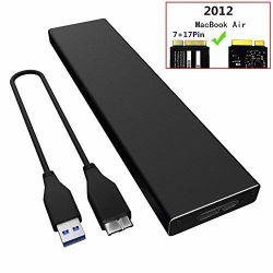 Hdtdk SSD Pcie Gabinete para 2012 O MacBook Air, USB 3.0 leitor externo para A1465 A1466 Adaptador SSD com estojo, Modelo de Suporte MD223 MD224 MD231 M232