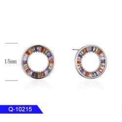 Handmake 인종 보석 925 순은 또는 구리 보석 다색 CZ는 여자를 위한 귀걸이를 장식용 목을 박는다