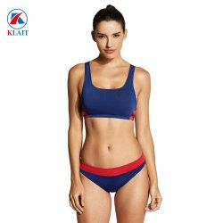 Treino de mulheres Bikini Definir Athletic Maiôs dois pedaços roupa de banho