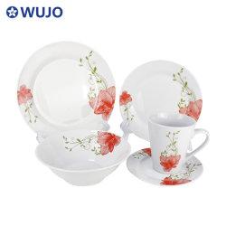 20pcs vaisselle en céramique ensembles dîner dîner de cuisine en porcelaine de la plaque fixée pour le commerce de gros