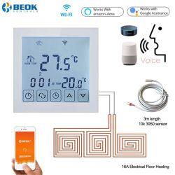 O WiFi 16Um termóstato de divisão de aquecimento de piso com Função Programável semanal