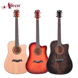 "Aileenmusic 41"" Glänzende solide Fichte Top Cutaway Akustikgitarre (AFM17C-D)"