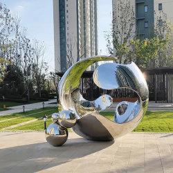 스테인리스 스틸 야외 정원 조각 공공 예술 조각과 구
