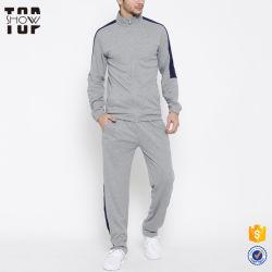 중국 체조 의류 남자 운동복은 회색 혼합 Mens 체조 Tracksuit를 디자인한다