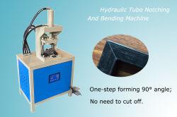 90 Scherpe Kanaal die van de Hoek van de Pijp van het Blad van het Metaal van de graad het Hydraulische Automatische Vierkante Inkervend Machine buigen