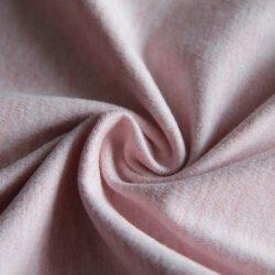 88% Polyester 12% Spandex Roze kationische Melange Knit Jersey beide zijden Perzik Katoen zoals stof 210GSM voor sportkleding/kleding/zwemmen