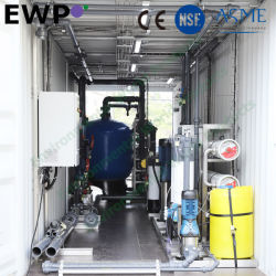 40FT hanno messo in contenitori i sistemi di osmosi d'inversione con ultra i sistemi di filtrazione