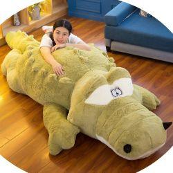 Big 200cm Crocodile jouet en peluche doux de la peau