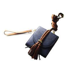 Mini borsa funzionale di tasto della moneta degli uomini di modo della scheda del raccoglitore del grano del cuoio genuino di scheda della cassa piena unisex all'ingrosso del supporto