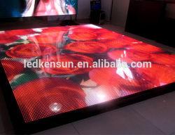 Piso de mosaico de baile interactivo etapa P6.25 Pantalla LED de alquiler