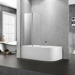 Painel de chuveiro em vidro temperado para banho de hidromassagem com tamanho personalizado