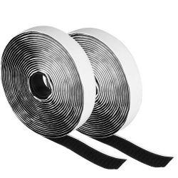 強い粘着性がある自己接着ホックおよびループ締める物テープ