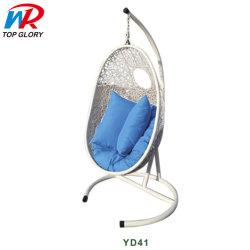 Muebles de exterior de forma ovalada y de Interior silla columpio para los adultos con soporte de giro Patio
