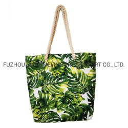 Oem &Odm Promotion Leisure Style T-Shape Canvas Transfer Printing Tote Bag Dailybag Beach Bag
