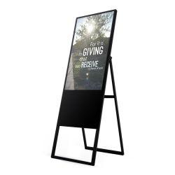 43 インチ両面可動式リモート管理デジタルバッテリ LCD バー / レストランの広告ディスプレイ