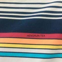 100% Polyester Satin Woven Fabric Perzik afgewerkte Microfiber Beach Pants Materiaal