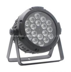 ضوء بيان LED الشهير المقاوم للماء بقدرة 18*10 واط وبمعدل 4 بوصات لكل بوصة، LED RGBW إضاءة DJ
