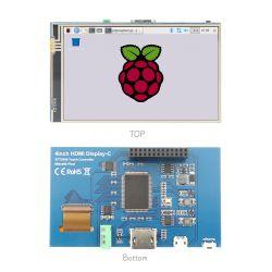 """800x480 Carte de contrôle de l'écran LCD 4"""" entrée HDMI Framboise moniteur Pi avec commande tactile"""
