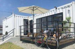 판매를 위한 주문을 받아서 만들어진 유리벽 선적 컨테이너 집 바 다방