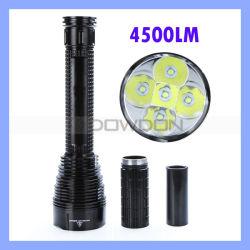 Tr-J12 5 * КРИ Xm-L XML T6 4500лм Водонепроницаемый светодиодный фонарик фонарик для кемпинга