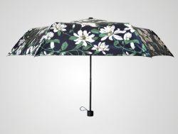 تصميم مخصص بالكامل مظلة الشمس الرقمية المطبوعة القابلة للطي إلى أعلى من النوع