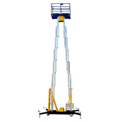 エレベーターの上昇の自動上昇の上昇によっては上昇の揚げべらのマストの上昇のポストの上昇の空気のプラットホームのチェリーのピッカー運搬機が家へ帰る