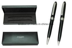 Cassa di plastica del contenitore di imballaggio della matita della penna della cerniera del nero su ordinazione del regalo
