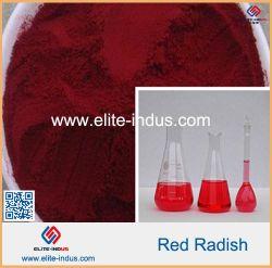 Le Radis rouge couleur naturelle des couleurs