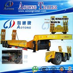 Se spécialiser produire 2/3/4/5/6 essieux 50/80/100/120/150 tonnes de fret lourd faible lit plat semi-remorque de camions pour la vente