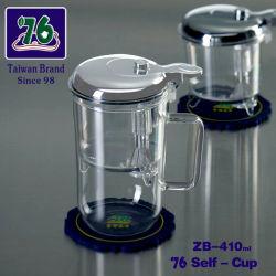 76 Nouveau style de tasse de café thé en verre avec filtre Net ZB-410