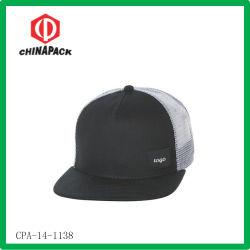 黒いブランク平らなピーク帽子(CPA-14-1138)