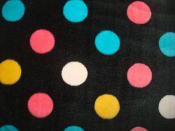 Um lado urdidura do tecido impresso Velboa escovado