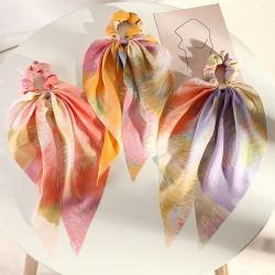 Les mouvements transfrontaliers des filles Européens et Américains Diamond Retro foulard en soie de tissu à l'Arceau Queue de Cheval Accessoires de cheveux