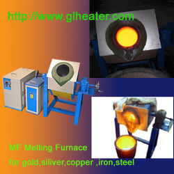 Fornace di fusione dei metalli di induzione - fornace di fusione dell'oro - macchina di rame d'ottone d'argento di fusione