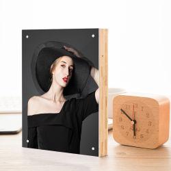 Personalizar el marco de fotos de bambú con acrílico para regalo o promoción