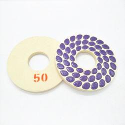 200mm Diamant-Harz-abschleifende Wolle-Marmorpolierauflagen